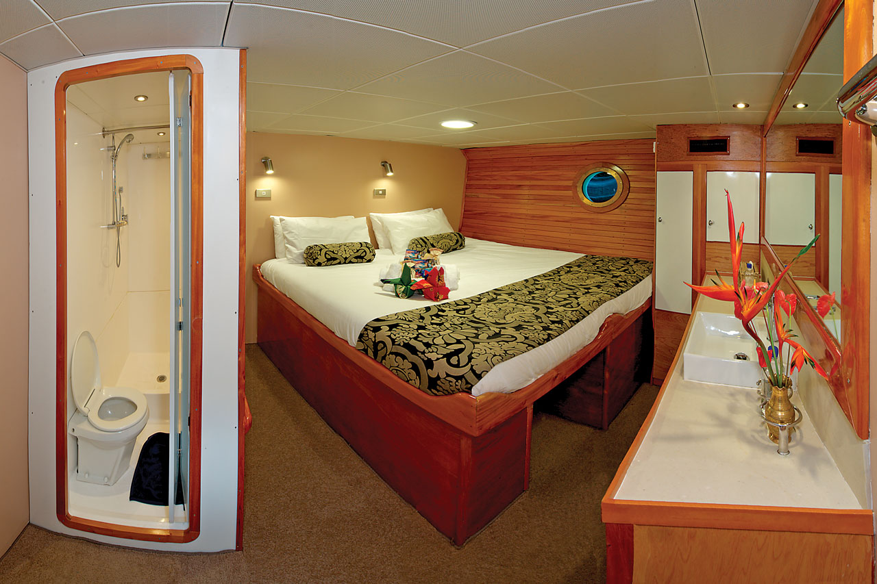 Stateroom with beds joined