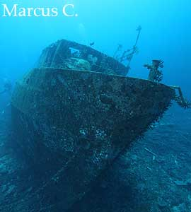Wreck diving in Fiji
