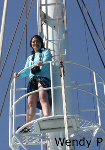 Virna conquers the crows nest