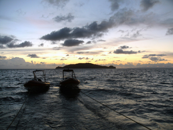 Sunset in Fiji: taken by Phil