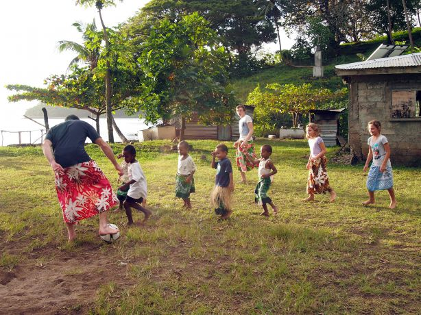 Somosomo Village soccer team takes on the Aussies