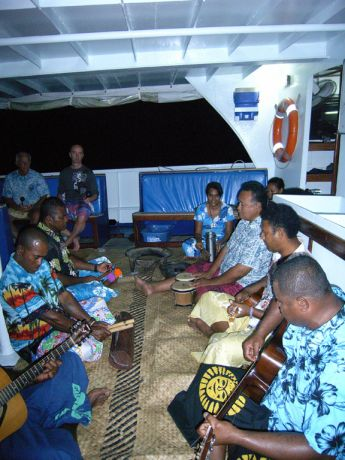 The Nai'a crew on Kava night - taken by Susan