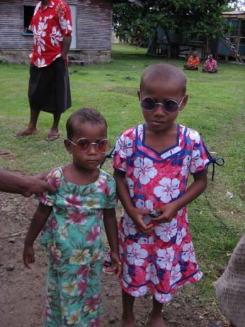 John Lennon fever hits Fijian village - taken by Dr W.