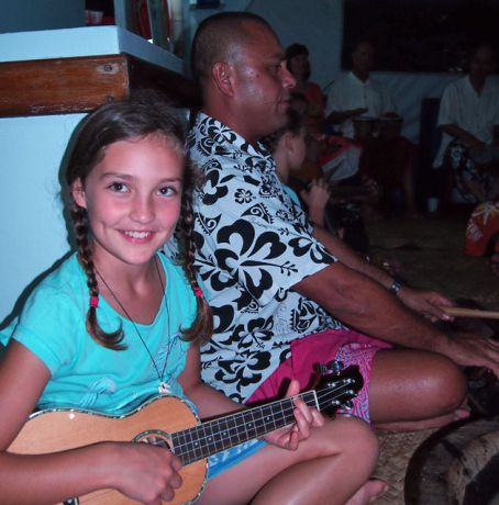 Malia on uke with Captain John.